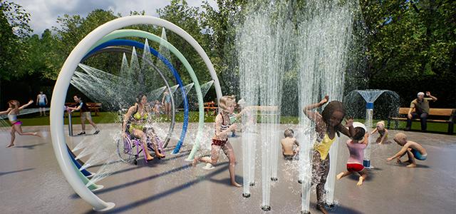 openbaar Spray Park