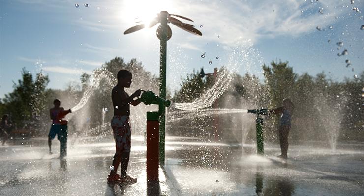 leeftijd Spray Park