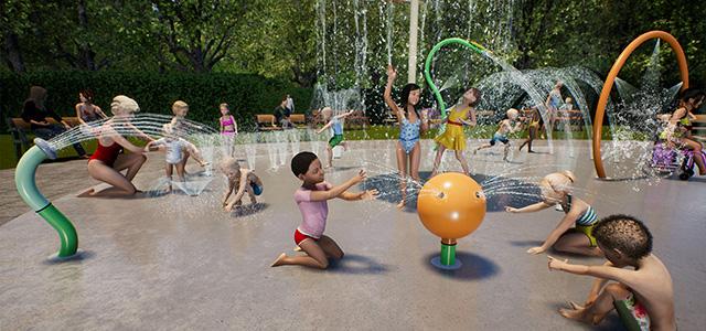 opening openbare Spray Park