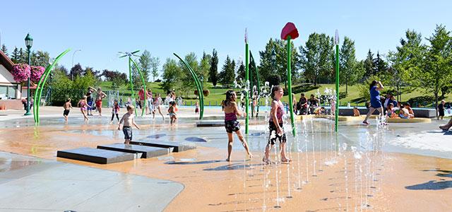 verschil fonteinplein en Spray Parks